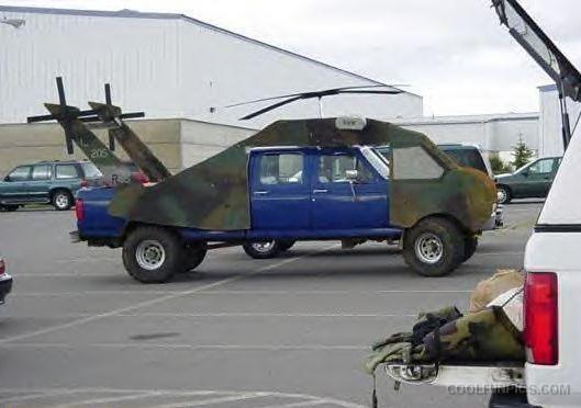 Helicopter Car 14 ไอเดียบรรเจิด เปลี่ยนรถปิคอัพที่ถูก #ห้ามนั่งท้ายกระบะ