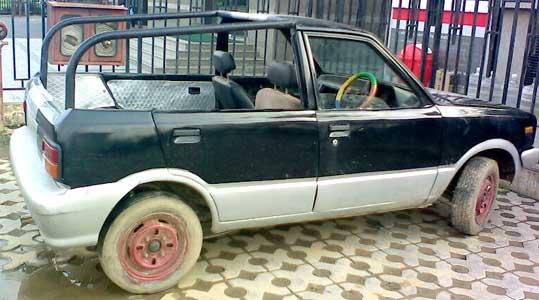 crazycar01 14 ไอเดียบรรเจิด เปลี่ยนรถปิคอัพที่ถูก #ห้ามนั่งท้ายกระบะ