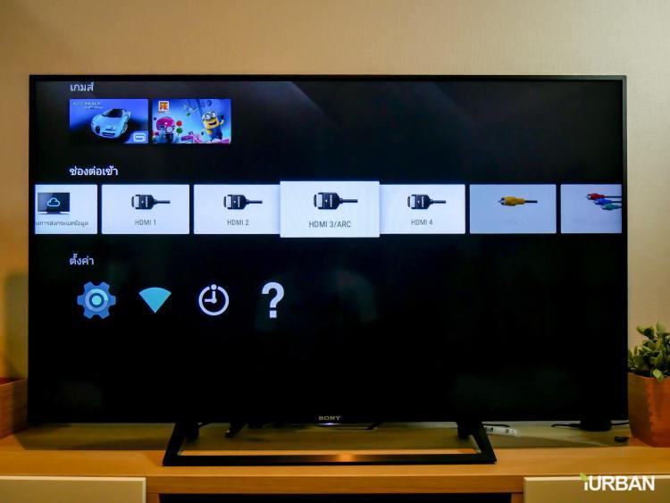รีวิว SONY Android TV รุ่น X8000E งบ 26,990 แต่สเปค 4K HDR เชื่อมโลก Social กับทีวีอย่างสมบูรณ์แบบ 70 - Android