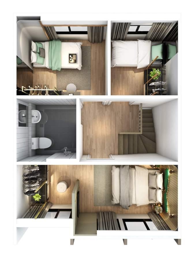 2560-5-25 Pleno Phaholyothin - Rangsit - Floor Plan - 2F(M)