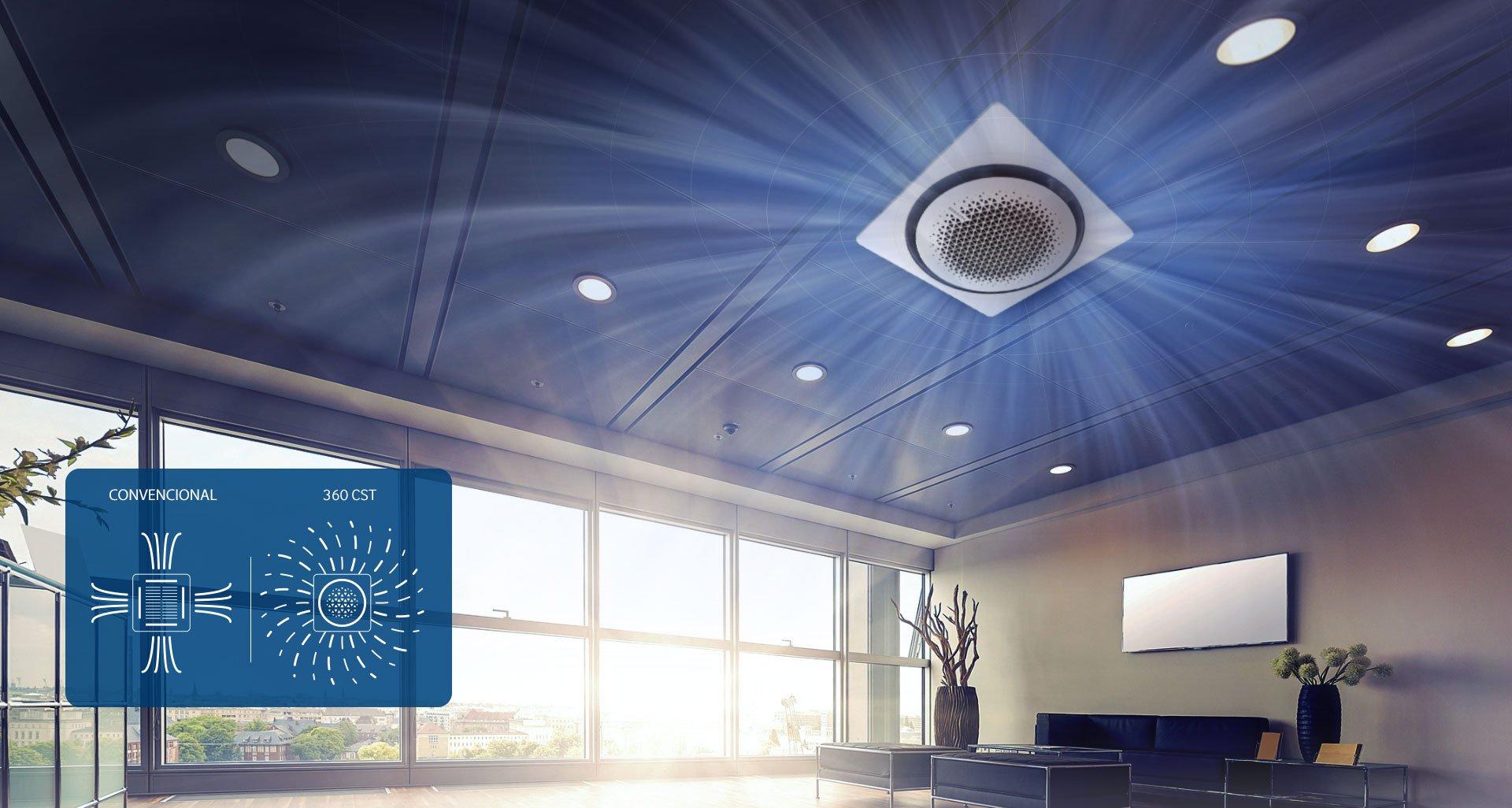แอร์ Samsung 360 Cassette ดีไซน์นวัตกรรมใหม่ แอร์ฝังเพดานทรงกลมตัวแรกของโลก เย็นทั่ว-หัวไม่หนาว 13 - Premium