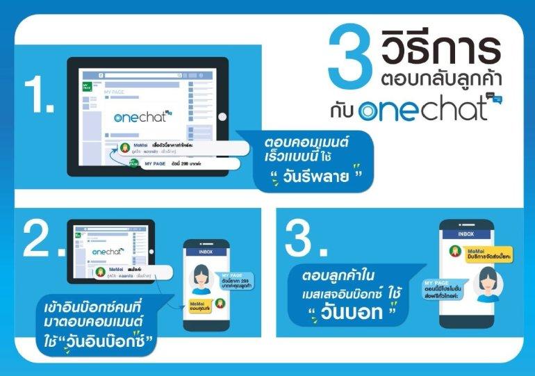 "OneChat ระบบตอบแชทอัตโนมัติ บริการด้วย AI ""ทันทีทันใจ"" ผู้ช่วยอัจฉริยะ 24 ชม.ของ SME 13 -"