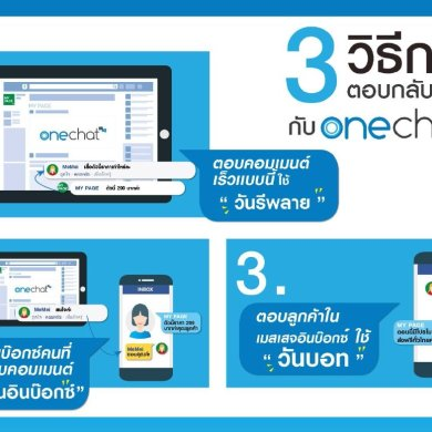 "OneChat ระบบตอบแชทอัตโนมัติ บริการด้วย AI ""ทันทีทันใจ"" ผู้ช่วยอัจฉริยะ 24 ชม.ของ SME 16 -"