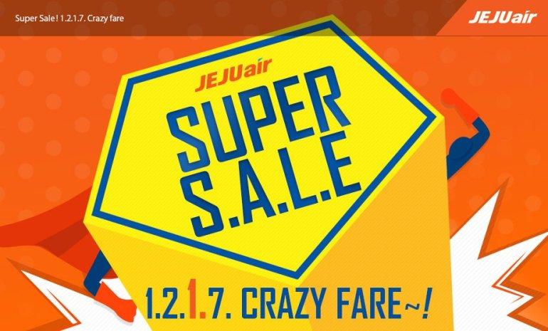 ลดราคาตั๋วเครื่องบินครั้งใหญ่ แค่สองครั้งต่อปีเท่านั้น โปรโมชั่น 'Super Sale' จากเจจูแอร์ 13 -