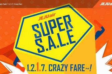 ลดราคาตั๋วเครื่องบินครั้งใหญ่ แค่สองครั้งต่อปีเท่านั้น โปรโมชั่น 'Super Sale' จากเจจูแอร์ 15 -