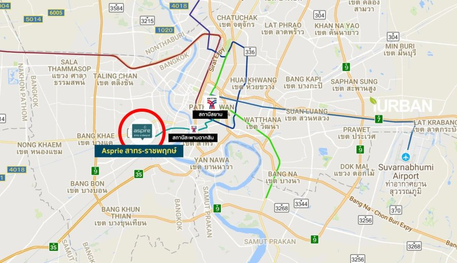 Aspireสาทร-ราชพฤกษ์ คอนโดติด BTS x MRT Interchange สถานีบางหว้า Skywalk ถึงหน้าคอนโด 18 - AP (Thailand) - เอพี (ไทยแลนด์)