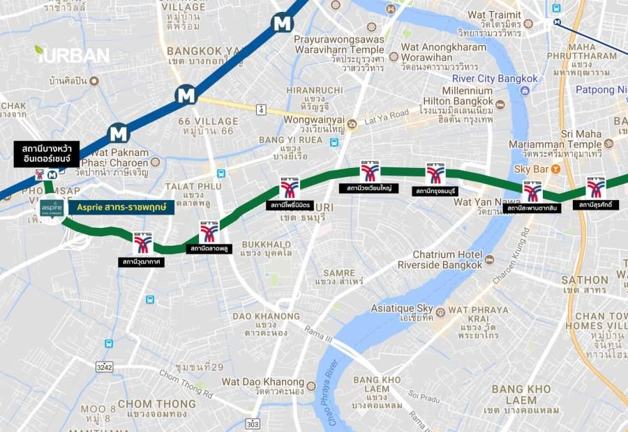 Aspireสาทร-ราชพฤกษ์ คอนโดติด BTS x MRT Interchange สถานีบางหว้า Skywalk ถึงหน้าคอนโด 19 - AP (Thailand) - เอพี (ไทยแลนด์)