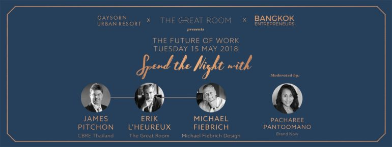 The Future of Work : Spend a Night With James Pitchon, Erik L'heureux and Michael Fiebrich at The Great Room 13 -