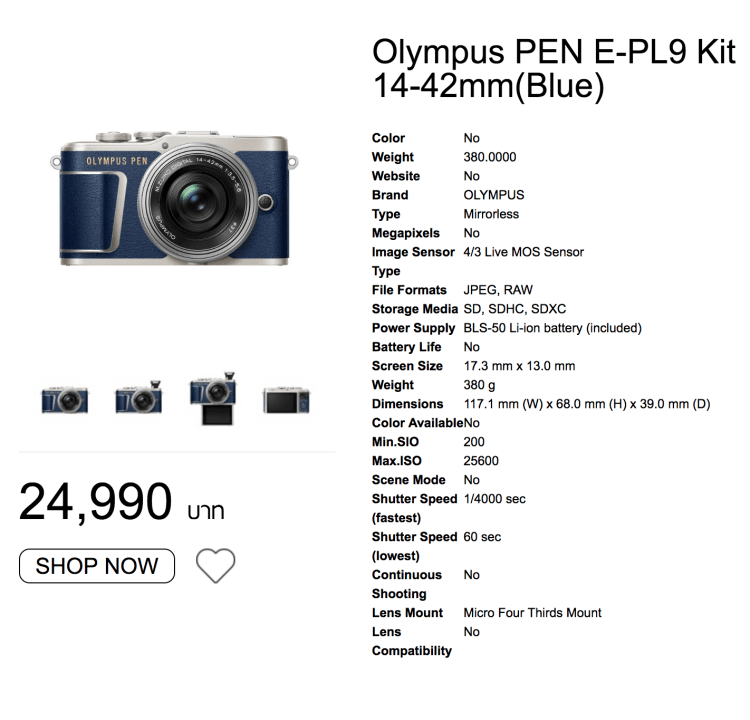 Olympus Pen E-PL9 สีน้ำเงิน Denim เฉพาะที่ BIG CAMERA เท่านั้น 16 - camera