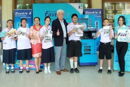 รร.นวมินทราชินูทิศ หอวัง นนทบุรี ร่วมโครงการ Double A Fast Print for School หนุนเด็กไทยยุค 4.0 เป็นแห่งแรก 13 -