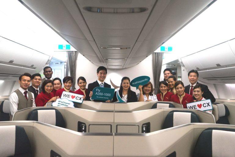 คาเธ่ย์ แปซิฟิคต้อนรับเครื่องบินแอร์บัส A350-1000 สู่ท่าอากาศยานสุวรรณภูมิ 13 -