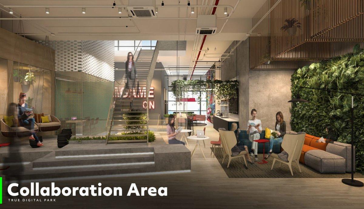 Collaboration area 02 ทรู ดิจิทัล พาร์ค...Global Destination ของคนดิจิทัลแห่งแรกในไทย ใหญ่ที่สุดในเอเชียตะวันออกเฉียงใต้ พร้อมเปิดให้สัมผัส Digital Lifestyle ปลายปีนี้!