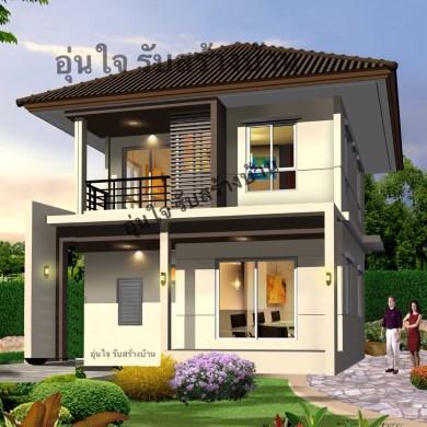 แบบบ้านอิ่มสุข ซุปเปอร์คุ้มทรงโมเดิร์น 2 ชั้นภายในแบ่งเป็นสัดส่วน สวยสุดดุดตา งบประมาณเริ่มต้นเพียง 1.79 ล้าน 15 -
