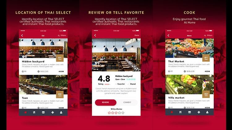 """กระทรวงพาณิชย์เปิดตัวแอพ """"Thai SELECT"""" ขยายช่องทางเข้าถึงร้านอาหารไทยในต่างประเทศ 13 -"""
