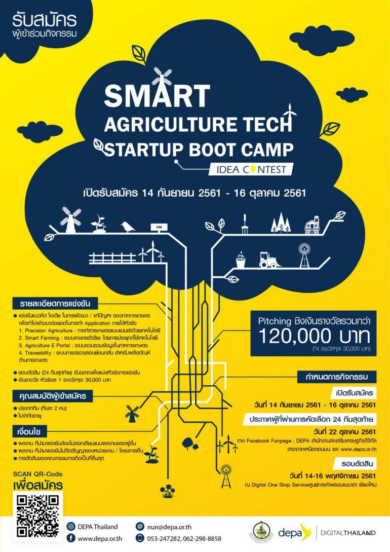 """ขอเชิญผู้ที่สนใจ สมัครร่วมกิจกรรม """"Smart Agriculture Tech Startup Boot Camp idea Contest""""ชิงเงินรางวัลรวมกว่า 120,000 บาท 13 -"""