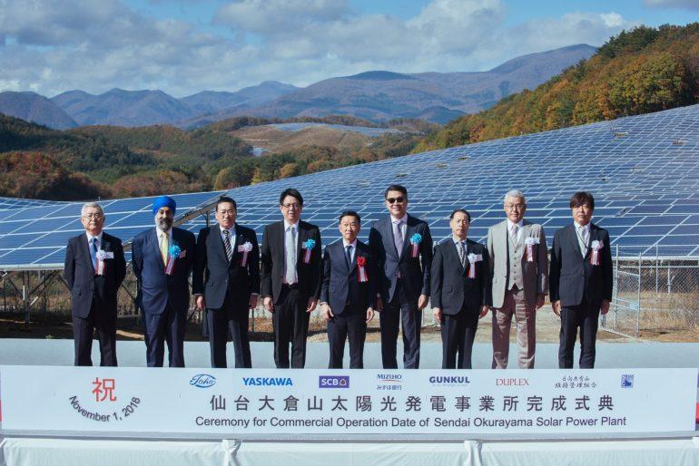 GUNKUL เดินเครื่องสตาร์ทโรงไฟฟ้าโซลาร์ฟาร์ม เซ็นได ประเทศญี่ปุ่น กำลังการผลิต 38 MW 13 -