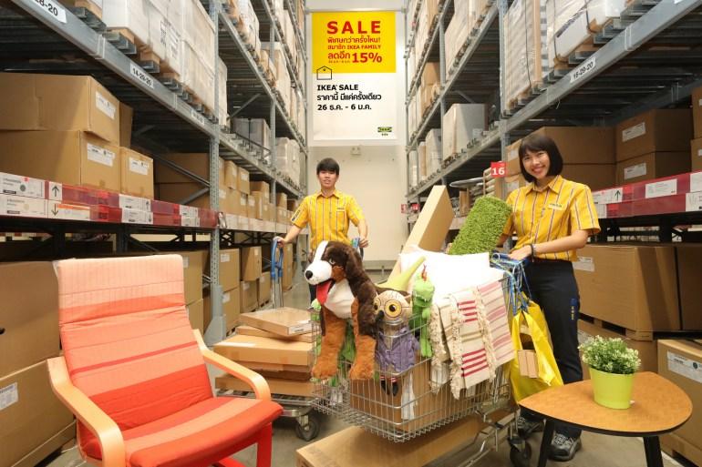 """อิเกีย จัดเต็มมอบของขวัญส่งท้ายปี """"IKEA YEAR-END SALE""""  พิเศษกว่าครั้งไหน! สมาชิก IKEA FAMILY ลดเพิ่มอีก 15%  26 ธันวาคม 61 – 6 มกราคม 62 21 - IKEA (อิเกีย)"""