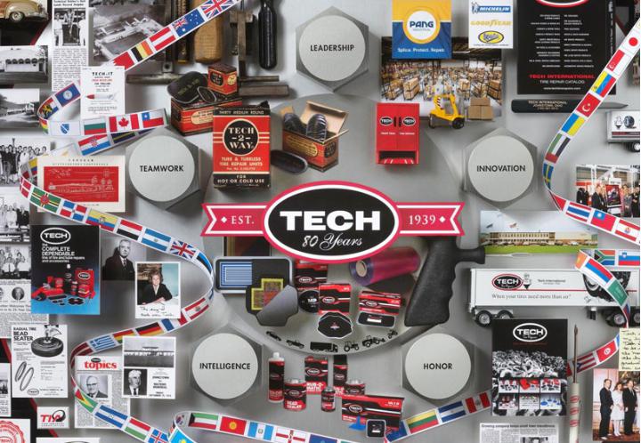 TECH จัดงานฉลองก้าวสู่ปีที่ 80 นวัตกรรมการปะซ่อมยางรถยนต์ชั้นนำที่มีการจัดจำหน่ายกว่า 95 ประเทศทั่วโลก 13 -
