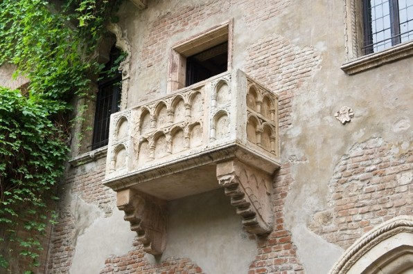 The famous balcony of Juliet Capuleti's home in Verona
