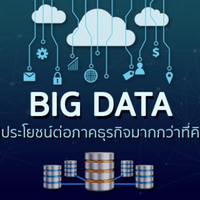 Big Data มีประโยชน์ต่อภาคธุรกิจมากกว่าที่คิด 16 -