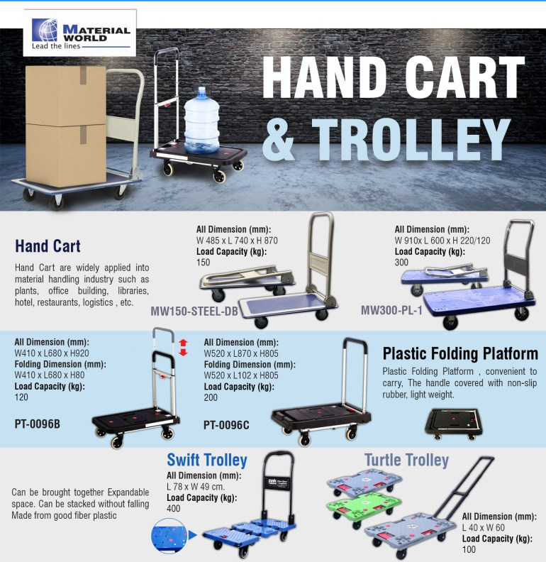 [Hand Cart & Trolley] รถเข็นหลากหลายแบบ เพื่อตอบโจทย์ทุกความต้องการในการใช้งาน 13 -