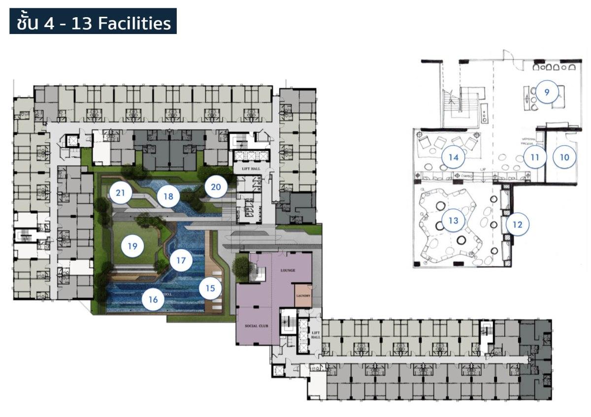 รีวิว KnightsBridge Phaholyothin Interchange คอนโดอินเตอร์เชนจ์ย่านหลักสี่ ฟรี Facility 30 รายการ 43 - Facility