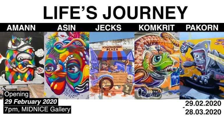 นิทรรศการศิลปะสตรีทอาร์ต LIFE'S JOURNEY 13 -