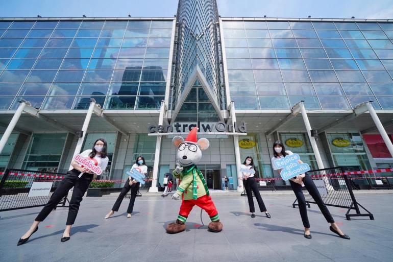 ประมวลภาพ ศูนย์การค้าเซ็นทรัล เปิดให้บริการทั่วประเทศวันแรกหลังคลาย ล็อคดาวน์ รณรงค์ 'วินัยคนไทย' การ์ดอย่าตก เน้นย้ำ Social Distancing 18 - New Normal