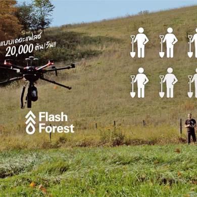 ปลูกป่าด้วยโดรน Flash Forest เร็วกว่าคน มหาศาล 20,000 ต้นใน 1 วัน 19 - Environment