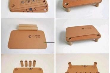 DIY โต๊ะสำหรับเด็กจากกระดาษกล่องรีไซเคิล 22 - DIY