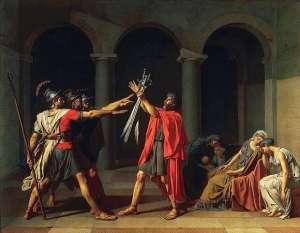 """(Jacques-Louis David, """"Il giuramento degli Orazi"""")"""