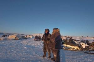 Ivakkak 2017Umiujaq Inukjuak - Marshall Johnny Oovaut, and Musher Junnior Tukkiapik from Team 9