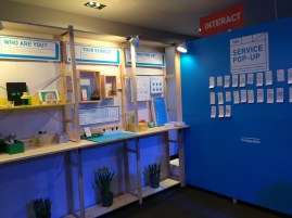 Bridgeable's take a service, leave a service booth. I'd never seen anything like it before.