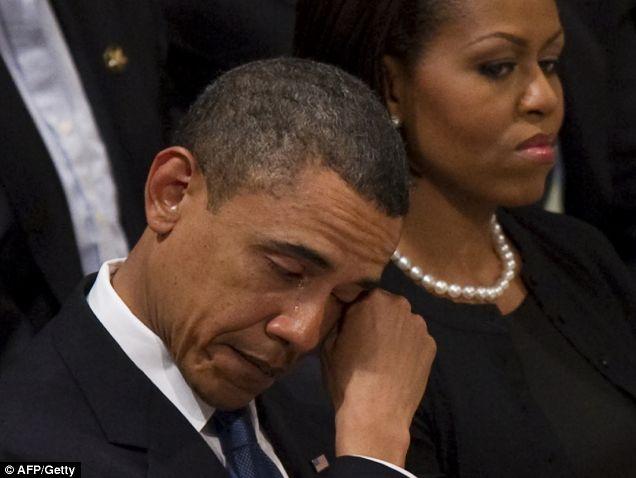 obama cries