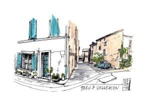 Urban sketch Velleron