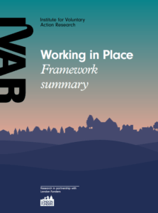 Front cover image for working in place framework summary