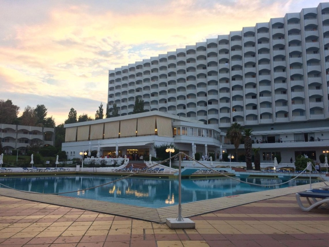 View of Pallini Beach Hotel from the pool