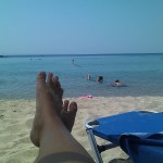 Relaxing at the beach at Porto Carras Sithonia