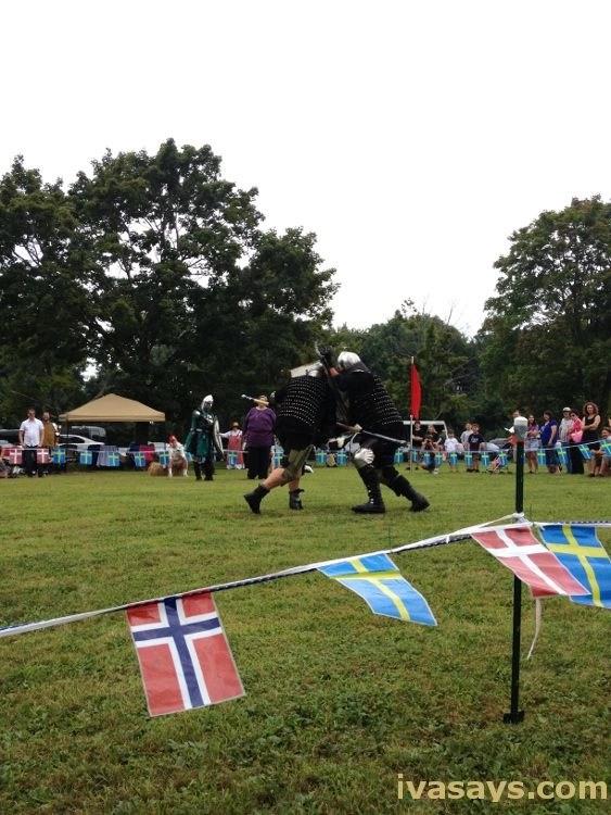 Battle re-enactment at Scandinavian Festival