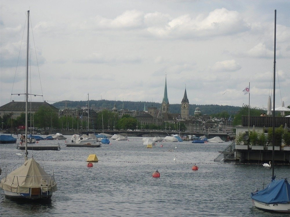 View of Zurich from the lake