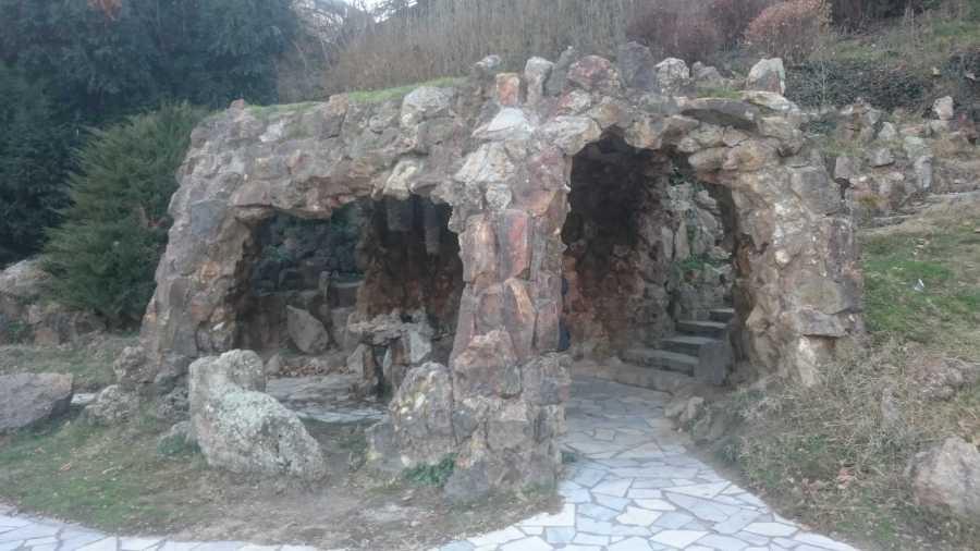 Rock/cave formation in the park in Sandanski, Bulgaria