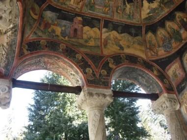 Frescoes at the Sinaia Monastery, Romania