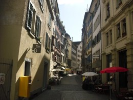 Pretty street in Zurich, Switzerland