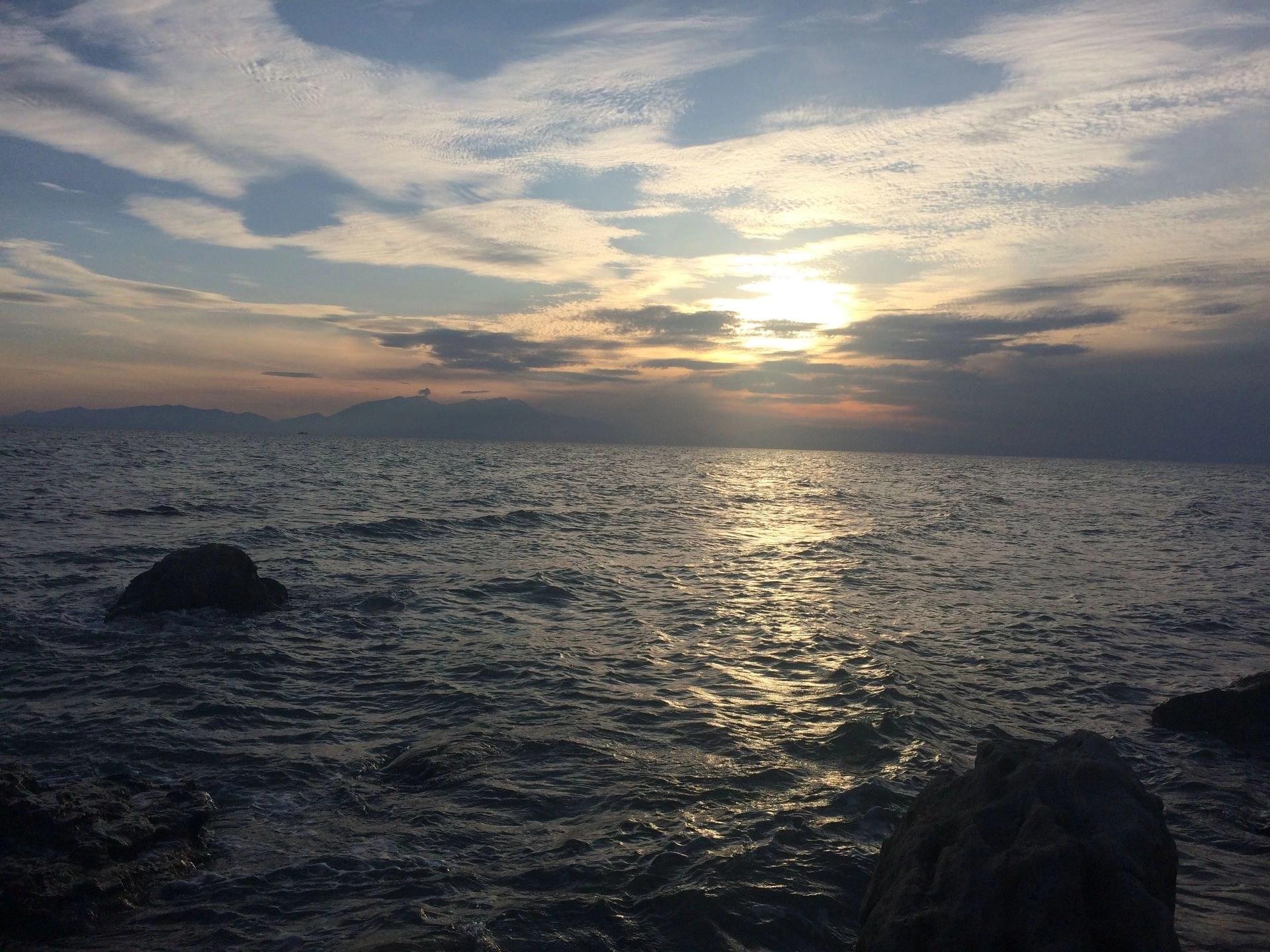 Sunset at Mykoniatika Beach, Nea Kallikratia, Greece