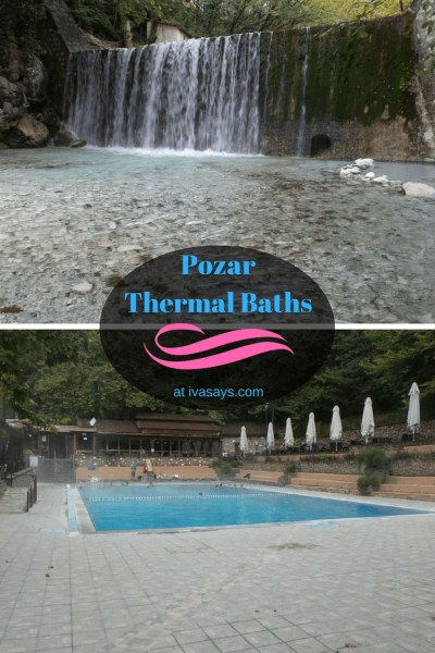 Relax and rejuvenate at the natural hot springs thermal pools and waterfalls at Loutra Pozar in Loutraki, Greece - Iva Says