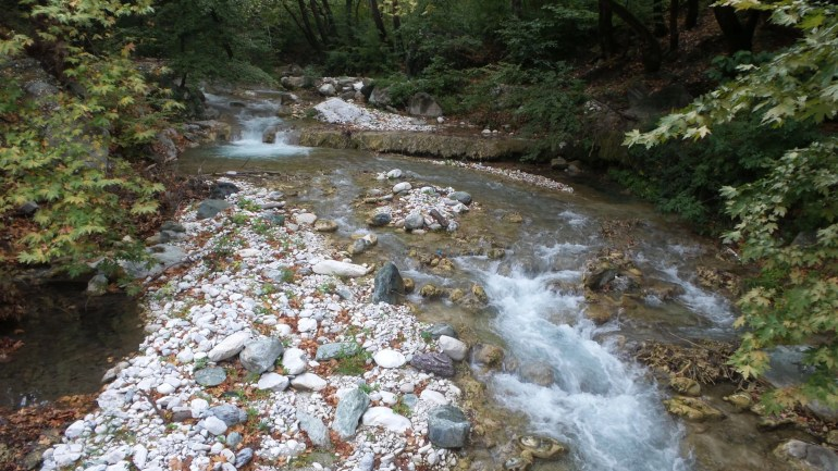 Nature and river in Loutraki, Greece