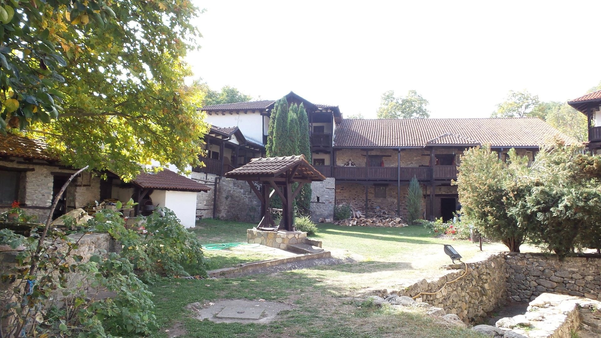The yard at Marko's Monastery