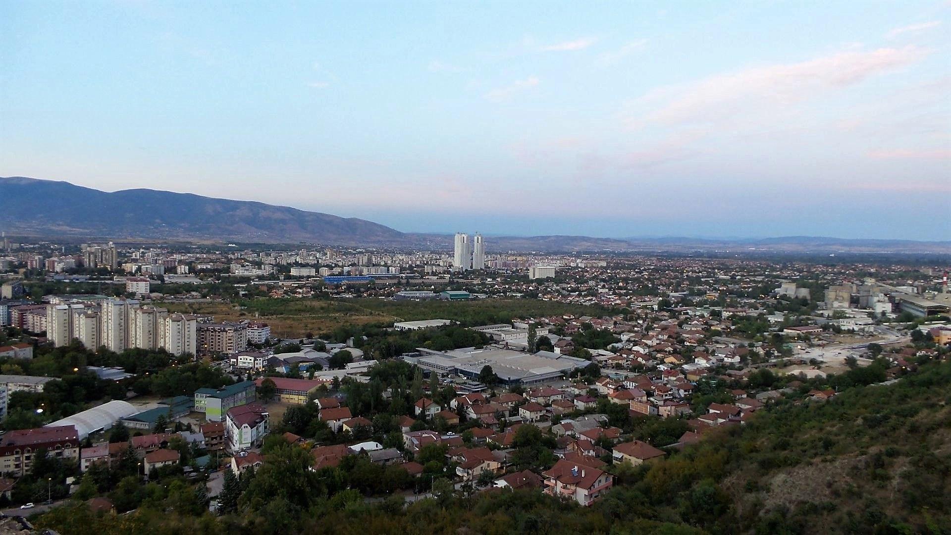 Overlooking Skopje from Vodno