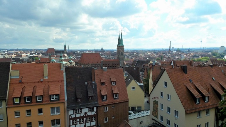 View from Kaiserburg Castle Nürnberg