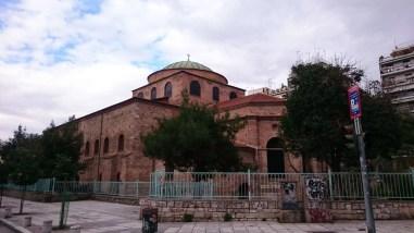 Walking to the Hagia Sophia in Thessaloniki, Greece